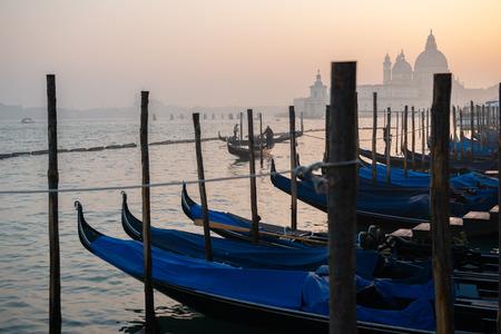 Grand Сhannel with gondolas, Venice, Italy. Beautiful ancient romantic italian city.