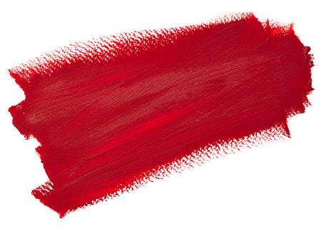 Deep red stroke, oil painting on canvas. Stripe. Artistic background, stain illustration. Design element,  brushstroke. Stock Illustration - 123014040