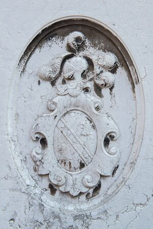 Ancient Venetian coat of arms. Medieval knightly emblem in Venice, Italy.