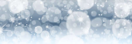 Silver Christmas or New Year eve background with bokeh and copy space. Abstract holiday backdrop. Foto de archivo