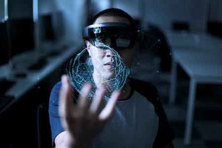Virtual reality spelen Stockfoto