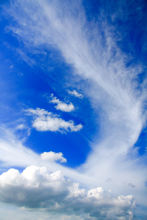 vetical: Blue Sky Vetical Foto de archivo