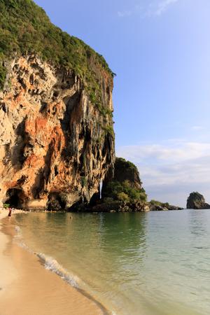 phra nang: Phra nang cave beach vertical Stock Photo
