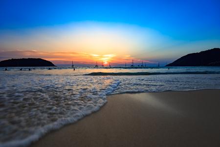 Sunset Nai Harn Beach Phuket Thailand