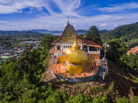Aerial view of kyaik-htiyo temple Phuket Thailand