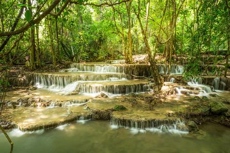 Huai Mae Khamin Waterfall Kanchanaburi thailand