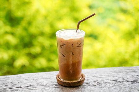 Fresh Ice coffee with beautiful bokeh Background Reklamní fotografie
