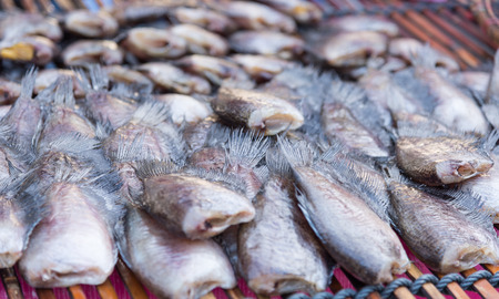 stockfish: Dried fish slice in the seafood market
