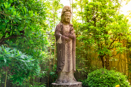 Goddess of Mercy known as Quan Yin or Guan Yin or Guan Yim in national park at Tokyo,Japan