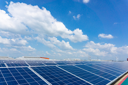 Solar panel on blue sky background, Alternative energy concept,Clean energy,Green energy,Thailand