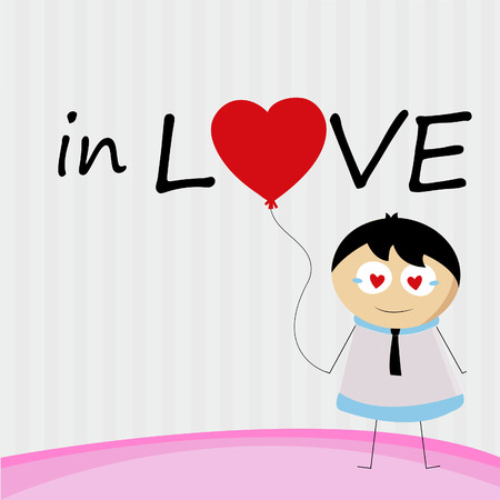 A little Boy in love forever photo