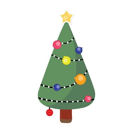pine tree on Christmas day photo