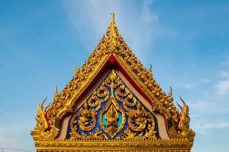 emerald city: Beautiful Temple in Thailand on blue sky Stock Photo
