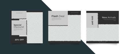 Set of sale banner template design. Vector illustration. Иллюстрация