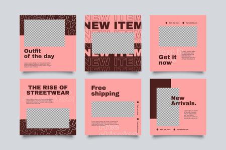 Urban Social Media Post Template for digital marketing and sale promo. modern fashion advertising