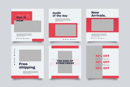 Urban Social Media Post Template for digital marketing and sale promo. modern fashion advertising Vetores