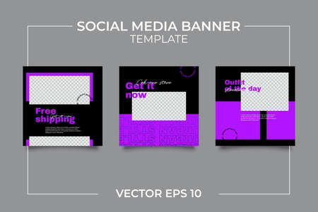 Urban Social Media Post Template for digital marketing and sale promo. modern fashion advertising