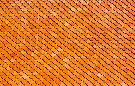 Roof texture of temple in Thailand. photo