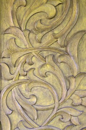 carved: Wood carving Stock Photo