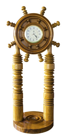 wooden clock: Carved wooden clock