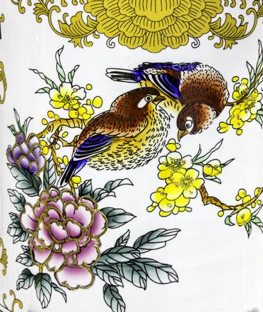 parus: Bird paintings Stock Photo