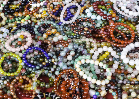 sard: The bracelets are made of stone