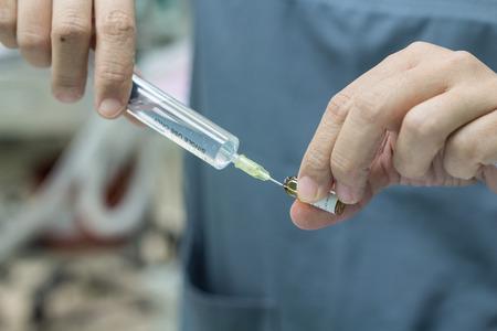 amp: Nurse get medicine from drug Amp