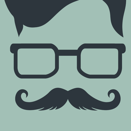hipster style: Fashion silhouette hipster style, illustration