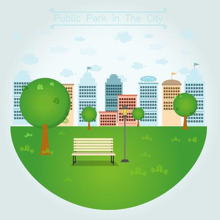 Öffentliche Park in der Stadt Illustration
