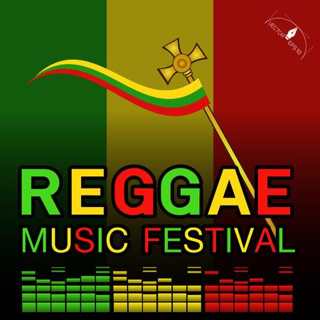 rastaman: Reggae music festival Poster Background.