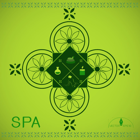 sexual health: illustration of various Spa and Beauty