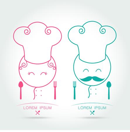 gourmet kitchen: couple chef restaurant menu gourmet gastronomy cuisine kitchen pictogram