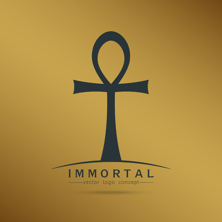 symbol of immortal Ankh ,Egyptian cross of pharaohs, vector illustration