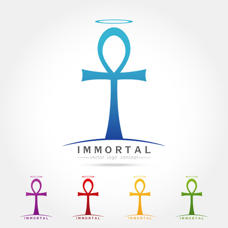 immortal: symbol of immortal Ankh ,Egyptian cross of pharaohs, vector illustration
