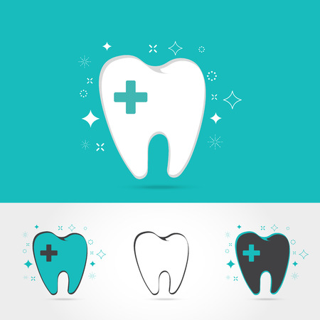 toothcare: Dental templates. Abstract vector teeth signs. A set of dental icon design template elements,on white background Vector illustration