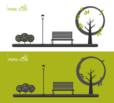 Park icon vector illustration