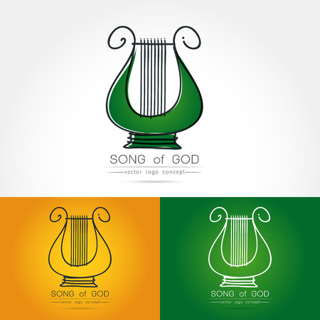 lyra: Modern linear thin flat design. The stylized image of lyre logo. classic music festival logo Template for covers, logo, posters, invitations,Modern art thin line of the classical lyre icon