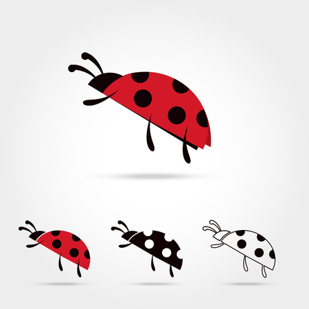 set of the ladybug logo icon on white background Vector illustration Illustration