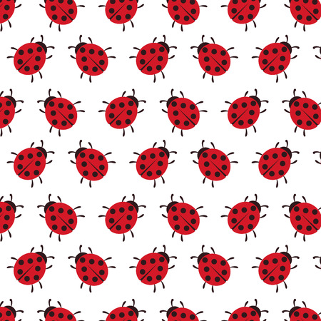 Vector background of Ladybug pattern wallpaper with clipping mask Illustration