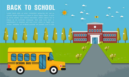 school bus vector illustration on white background