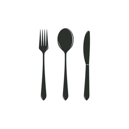Simple cutlery icon isolated from kitchen collection. cutlery icons trendy and modern cutlery symbols for logos, web, apps, UI. on white background vector illustration