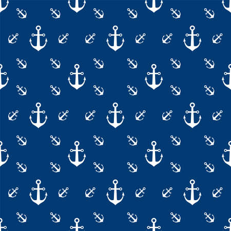 Seamless vector pattern with doodle anchors. Anchors Seamless pattern can be used for wallpaper, pattern fills, web page background, surface textures vector illustration
