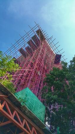 weave: Pink building construction