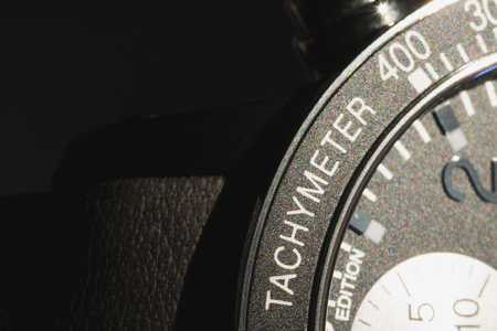 tachymeter: luxury tachymeter limited edition watch Stock Photo