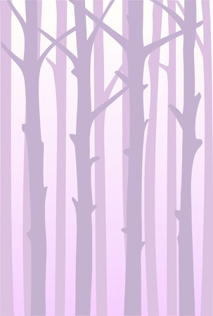 Mysterious background with forest in fog. Pastel shades.