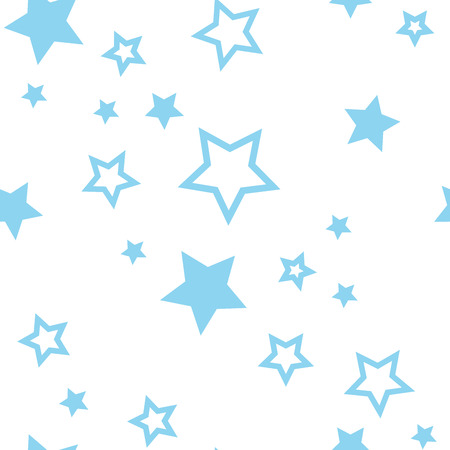 Holiday seamless pattern with falling stars. Vector illustration