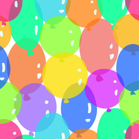 Festive seamless pattern with cute and colorful balloons. It's perfect look for holiday, birthday or may use in greeting cards and wrapping