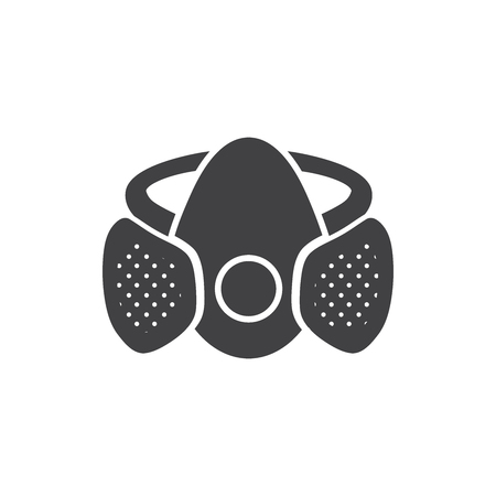 Paint mask icon vector. Icon of paint mask on white background