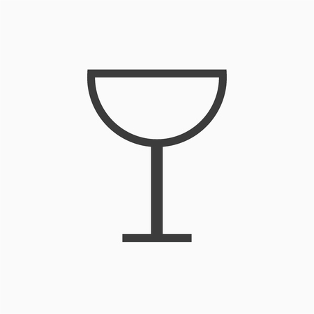 Wineglass icon vector. Icon of wine glasses on white background Векторная Иллюстрация