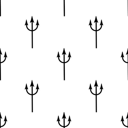 Seamless pattern with a trident. It belongs to the devil, or to the Poseidon